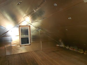 A Holmdel attic with SuperAttic installed.